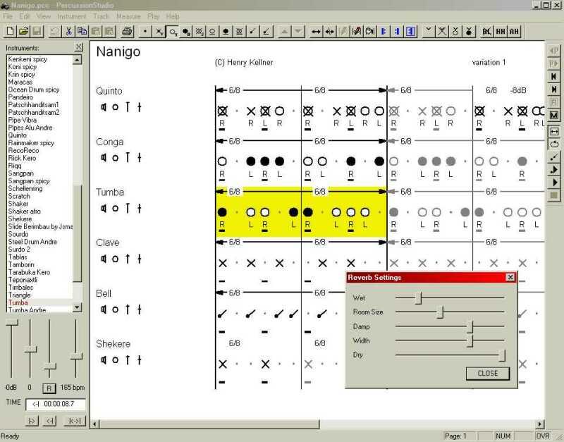 Drum Software, Percussion Software, PercussionStudio, rhythm